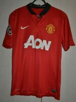 MANCHESTER UNITED 2013/2014 CHAMPIONS LEAGUE FOOTBALL SHIRT NIKE #10 ROONEY