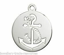 17mm Sterling Silver Ships Anchor Charm / Pendant for Jewellery Marking