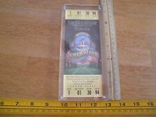 Superbowl XXVIII replica ticket in lucite case Dallas Cowboys v Buffalo Bills