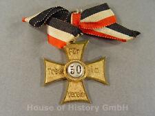 """Kriegerverein Auszeichnung """"Für Treue im Verein 50"""", goldenes Kreuz, 101648"""