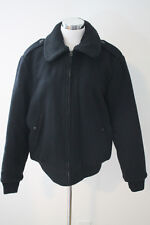J.Crew Wallace and Barnes Sherpa Collar Wool Bomber Jacket $368 C9548 M Black