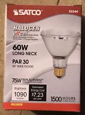 Satco S2243 PAR 30 Long Neck NFL Halogen excel 60W Light Bulb 75W replacement
