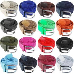 Elastischer Gürtel 105 dehnbar bis 120 cm Herren-und Damengürtel  Metallschnalle