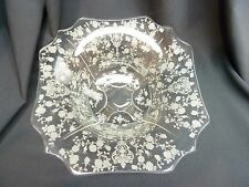 """Cambridge ROSE POINT 12"""" Footed Flared Bowl   #3900/62 Clear Crystal Bowl"""