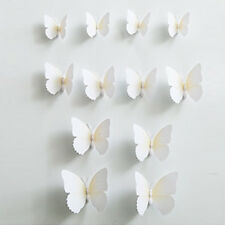 12pcs 3D Butterfly Sticker Art Wall Mural Door Decals Home Decor - WHITE