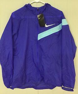 Nike Mens Impossibly Light Running Jacket 833545 452 Packable Blue Small Medium