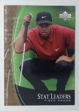 2001 01 Upper Deck Stat Leaders Putting Average Tiger Woods #SL7, Golf