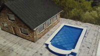 Spur N | Swimmingpool  | Pool mit Treppe | Schwimmbad | Bausatz 1:160