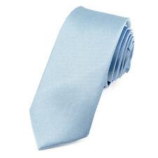 CRAVATE Slim 5 cm Satin Bleu ciel - Sky Blue Plain Men Necktie - Cravatte