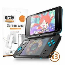 Orzly 3 in 1 Dual Screen Protector Pack (3 Top + 3 Bottom) for Nintendo 2DS XL
