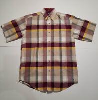 Wrangler 20X Short Sleeve Western Shirt Plaid Men's Small