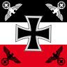 DR Reichsflagge mit Eiserenem Kreuz EK und 4 Reichsadlern Fahne Flagge 120x120