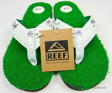 NEW REEF MULLIGAN II SANDALS RF0A2XMV GOLF THONG SANDALS GREEN TURF WHITE SZ 10