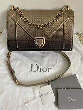 Christian Dior Diorama Gold Microcannage Metallic Leather Flap Bag Handbag $3900
