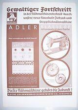 Werbeblatt Adler Nähmaschinen Koch Bielefeld 1939 ! (D