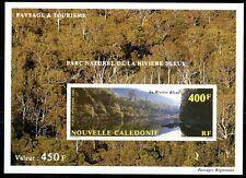 """Nouvelle-Calédonie 1992 Yv PA280 Bloc gommé non dentelé """"La rivière bleue"""""""