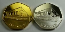 Pair of RMS TITANIC Silver & 24ct Gold Commemoratives. Albums/Collectors/Filler