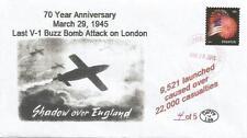 29 Mar 1945 Last V-1 Buzz Bomb Attack on London #4 of 5 Cachet Cover