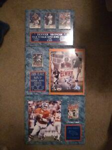 NFL Denver broncos john elway wall plaques in excellent condition.