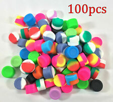 100 pcs Mixed colors Round Wholesale lot  2ml Non-Stick Silicone Container Jar