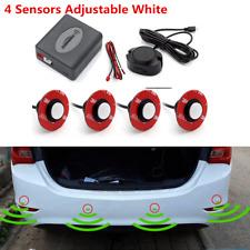 16mm Car Vehicle Parking Rear Reverse 4 Sensors Radar BIBI Alarm Sound White