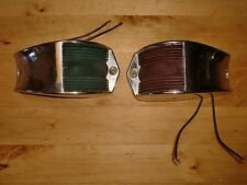 Vintage Pair of  Red & Green Running Lights