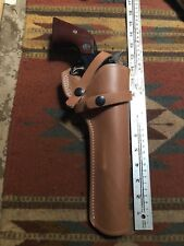 "FITS: Ruger Super Blackhawk 44 Magnum Leather Field Holster 7 1/2"" Barrel"
