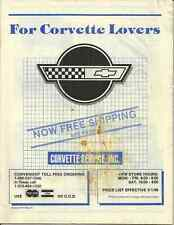 FOR CORVETTE LOVERS - CORVETTE SERVICE INC 1986 CATALOG WITH ORDER FORM ATTACHED