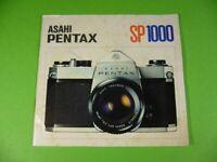 Anleitung Bedienungssanleitung ASAHI PENTAX SP 1000, Kamera Manual