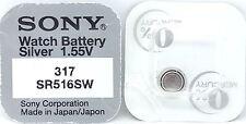 Sony 317 SR516SW V317 317 SR516SW Watch Battery