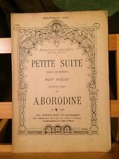 Borodine Petite suite huit pièces partition piano éditions Leduc