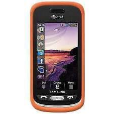Amzer Orange soft skin case for Samsung Solstice A887