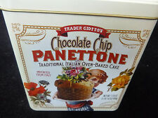 TRADER JOE'S CHOCOLATE CHIP PANETTONE CAKE  EMPTY COLLECTIBLE TIN - 1 OWNER