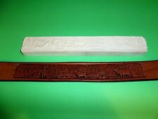 """New listing Rocky Mountain Wildlife Leather Emboss Plate 1 1/4"""" x 9 3/4"""""""