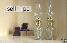 new Classic white Antique Oil / Kerosene Stand Lamp kerosene oil Lamp Glass U