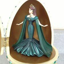 Empress of Emeralds Barbie 2000 Resin Egg Music Box Royal Jewel Collection L@@K