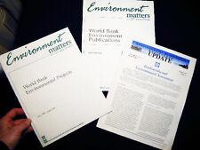 1995 WORLD BANK ENVIRONMENTAL PROJECTS + CATALOG + 1997 UPDATE