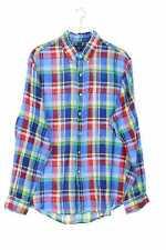 RALPH LAUREN kariertes Button-down-Hemd Leinen XL multicolor