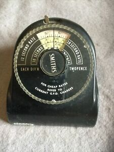 VINTAGE GPO TELEPHONE CALL RATE CHARGER TIMER Made By  SMITHS