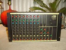 Biamp 883B, 8 Channel Mixer, Spring Reverb, 3 Band Equalizer, Vintage Rack