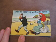 1913 Comic / humour postcard - Longing for home