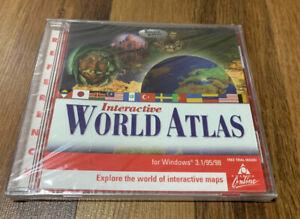 Interactive World Atlas (PC, 1999) New & Sealed Windows TLC Computer Software
