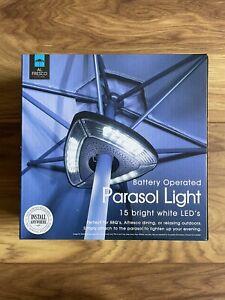 BRAND NEW AL FRESCO LIVING BATTERY OPERATED PARASOL LIGHT