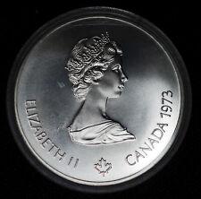 Canada $5 Dollars 1973 CH BU silver KM#84 $5 1976 Montreal Olympics COA