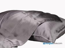 100% Silk Pillowcase Solid Gray Color PC07