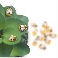 Mini Garden Decoration 100PCS/Lot Wooden Making Mini Bee Self-adhesive Toys