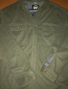 Cabela's Men's Fleece Lined Shirt Jacket Green Size XL Great Condition