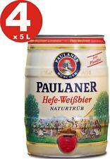 4 x Paulaner Hefe-Weissbier Naturtrüb 5,5 % vol 5 Liter Partyfass 3,19€/L