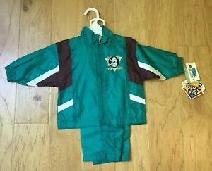 NHL Anaheim Ducks kids warm up suits Ice Hockey New with tags Baby winning goal