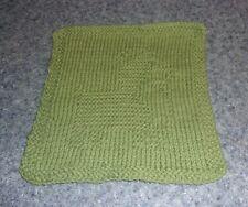 Brand New Hand Knit Cute Corgi Dog Green Dish Cloth For Dog Rescue Charity